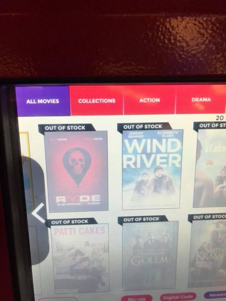 We have to proudly say It was so excited to see our movie #Ryde at redbox, but got even more excited that it was out of stock.. It's being watched!!! 🍿🎼🎭🎥 #Ryde #Movie #redbox #itsout #watchit #rydemovie #vegaentertainment #davidwachs #vikramraju