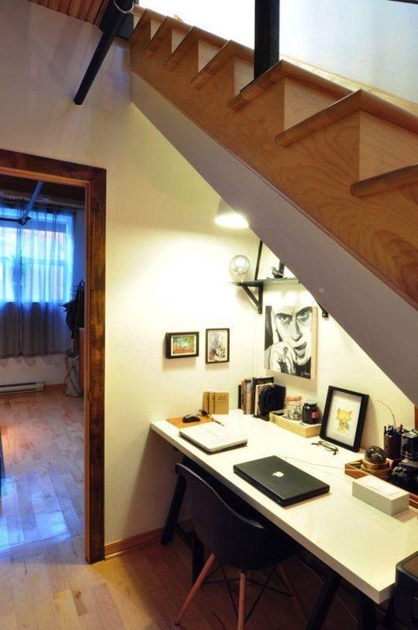 M s de 25 ideas incre bles sobre escritorio bajo escalera for Decoracion de interiores escaleras