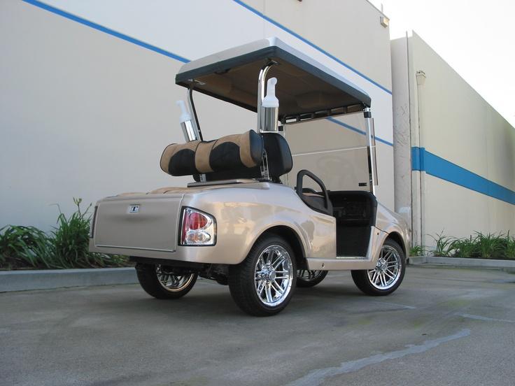 Custom 4-Passenger rear body kit on the E-Z-GO RXV golf car