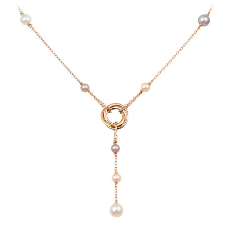 Cartier- Trinity necklace- 3 types of gold, pearls $3,150 ...