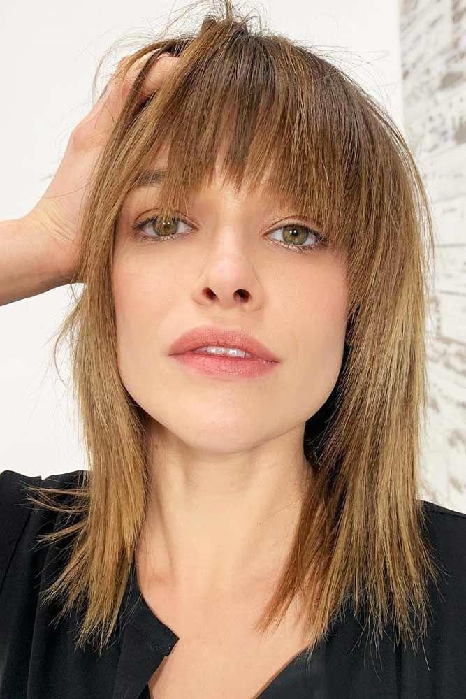 Wispy Bangs For Thin Hair #bangs #wispybangs ❤ Want to go for stylish wispy bangs? Our short, soft fringes for long hair, shoulder length bob with l...