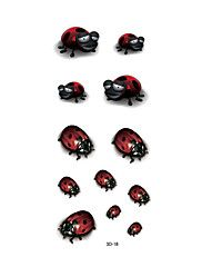 1pc Women Waterproof Temporary Tattoo Simulation Vivid Body Art Ladybug Bug Insect 3D-18 – CAD $ 2.88