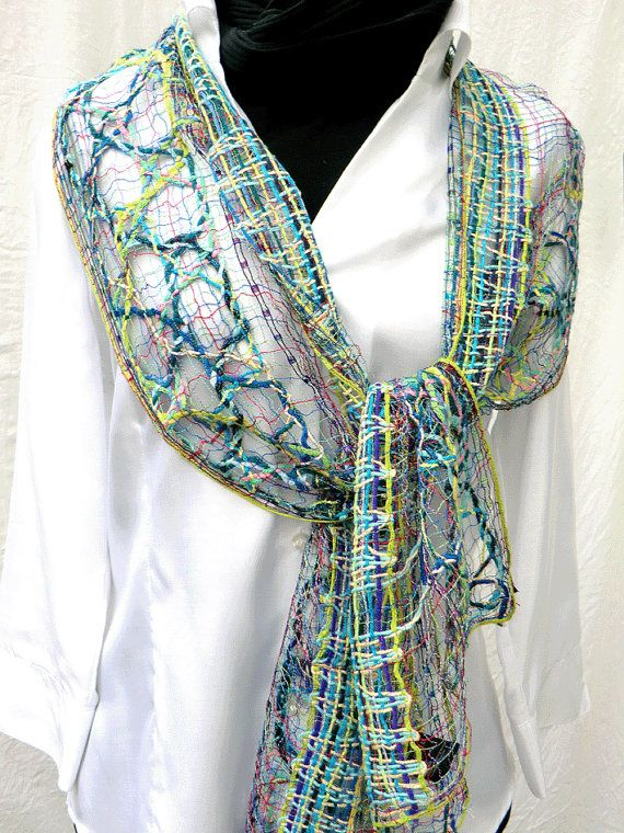 net scarf handmade bobbin lace out of wool fine by UliBaysie, €189.90