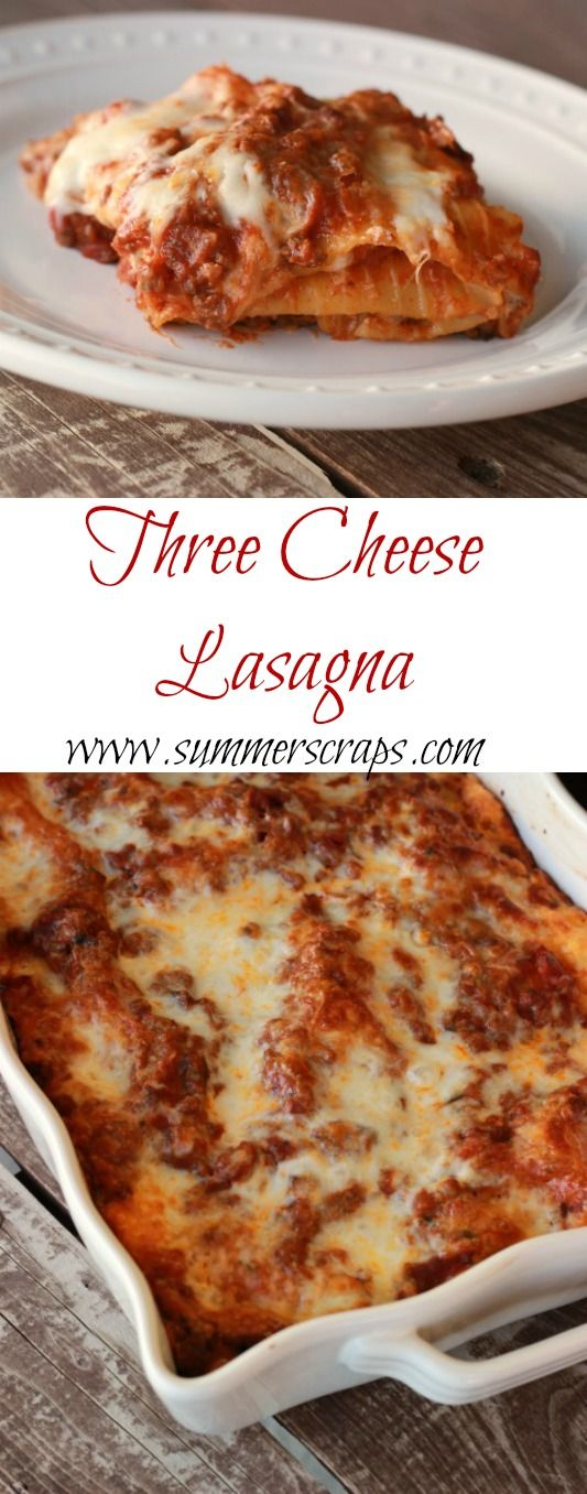 about Cheese lasagna on Pinterest | Cheese sauce for lasagne, Lasagna ...
