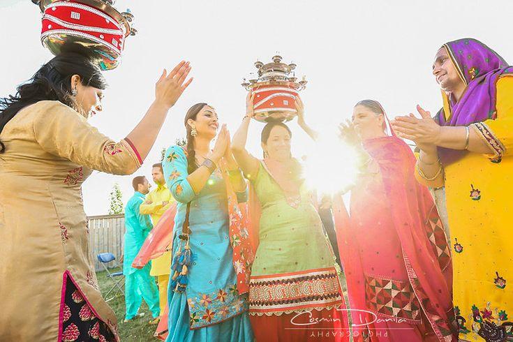 East Indian Wedding Photography Punjabi Rituals Ladies Sangeet Jaago Mehndi Maiya Choora Edmonton Photographer