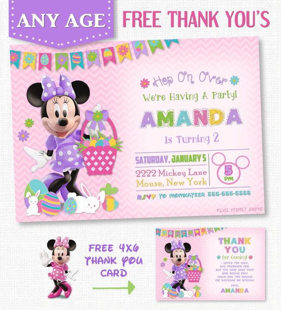 69 best Minnie Mouse Invitations \ Printables images on Pinterest - easter invitations template