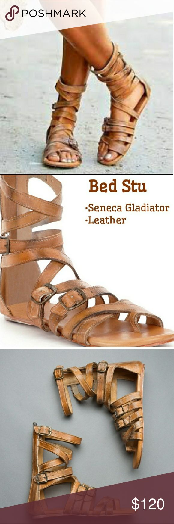 Bed Stu Seneca gladiator sandals tan rustic 9 Gorgeous sandals handmade in Mexico, reposh that I did not wear, only worn a couple times, in excellent used condition, no flaws. Perfect for summer! Bed Stu Shoes Sandals