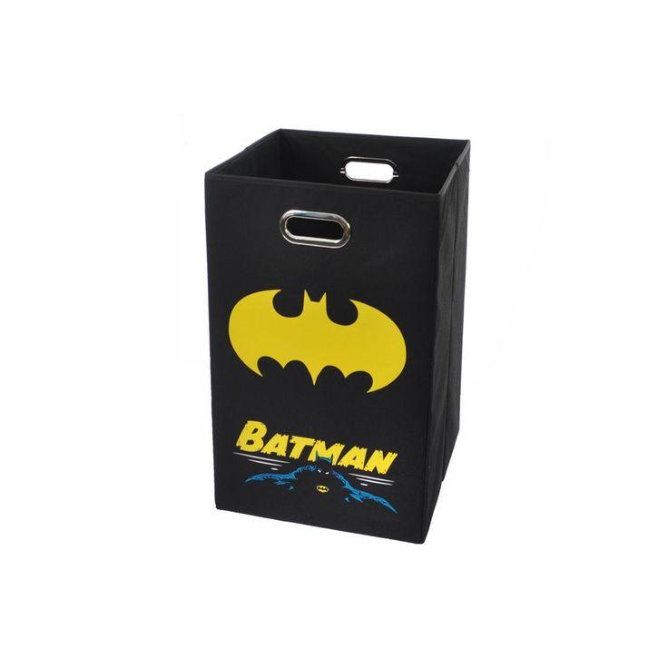 Batman Black Folding Laundry Basket