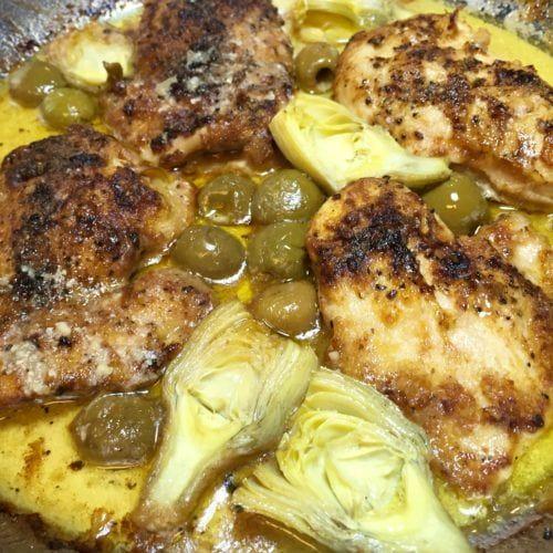 Lemon Chicken Mediterranean Style: This Mediterranean Lemon Butter Chicken Is Only Quick And