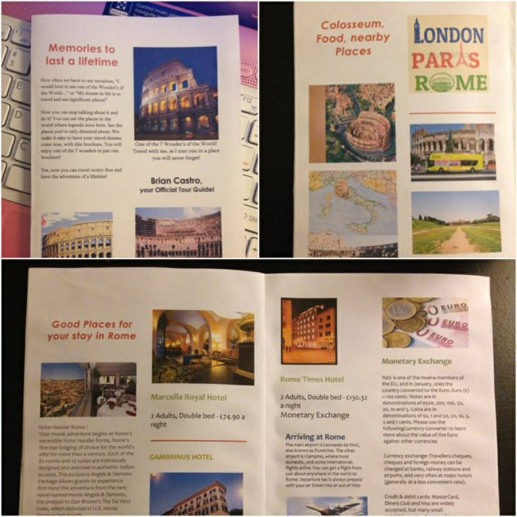 Printable Travel Brochure Template For Kids: 23 Best Images About School Projects On Pinterest