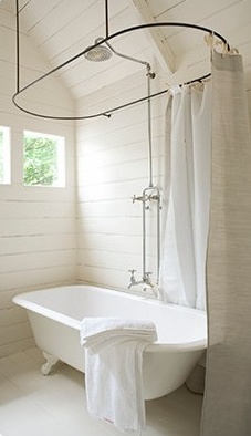 roll top shower curtain bathroom ideas pinterest corner fit roll top bath with shower london