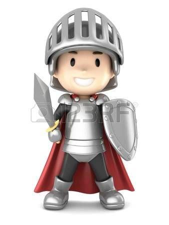 armure chevalier: Rendu 3d d'un garçon de chevalier mignon