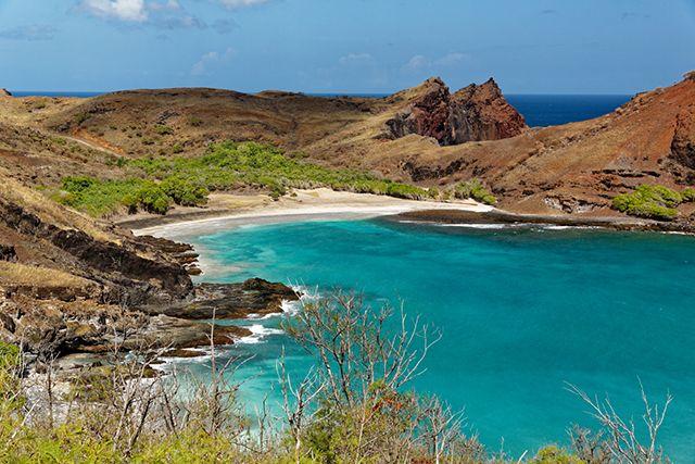 L'eau turquoise des Marquises, Polynésie française © Jean-Bernard Carillet.