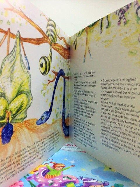 """Secretul Fetei Frumoase"" - written and illustrated by Gratiela Aolariti / editura Adenium ""The secret of the beautiful girl"" written and illustrated by Gratiela Aolariti  - inside the book"