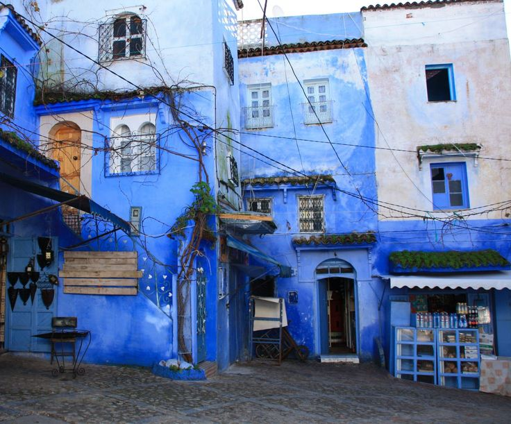 Best Shefshauen Images On Pinterest Morocco Art Paintings - Old town morocco entirely blue