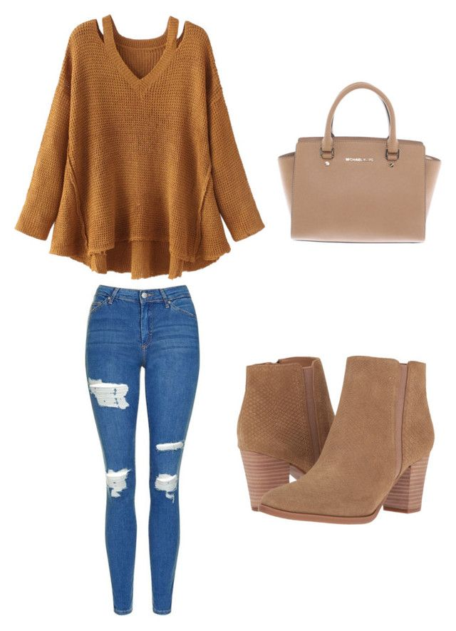 """""""Untitled #3"""" by sofia-pedu on Polyvore featuring WithChic, Topshop, Franco Sarto and Michael Kors"""