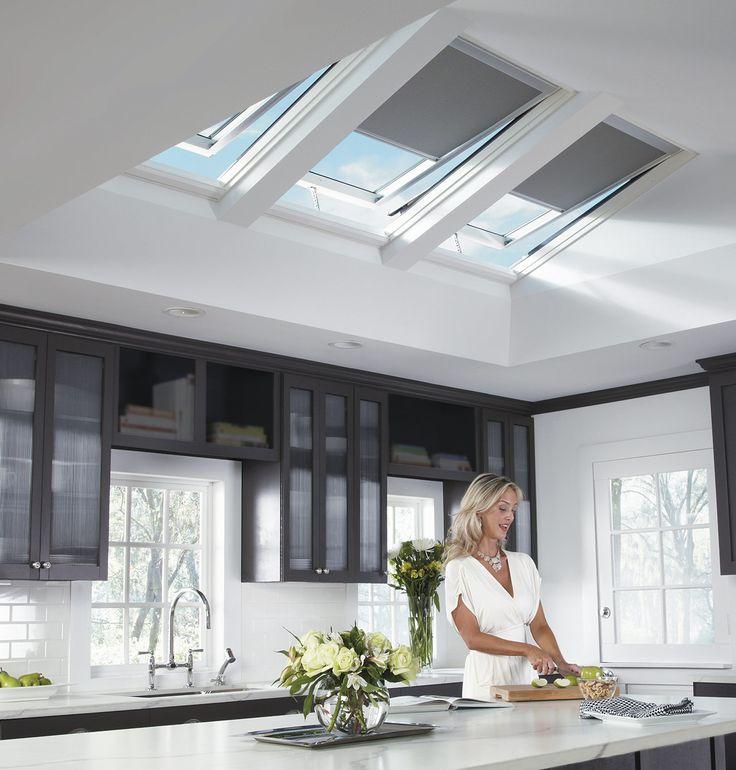 solar powered skylights in kitchen