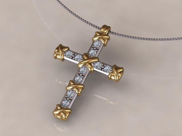 Diamond set cross designed and made by Martin Gotrel