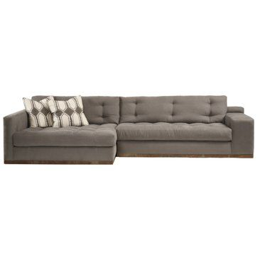 One Kings Lane - Stylish Upholstery - Bradford Left-Facing Sectional Stone. Find this Pin and more on double wide chaise ...  sc 1 st  Pinterest : double wide chaise - Sectionals, Sofas & Couches