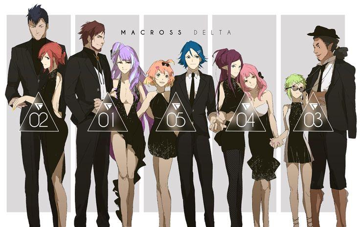 MACROSS DELTA, Hayate/Freyja, Messer/Kaname, Arad/Mikumo, Mirage/Makina, Chuck/Reina