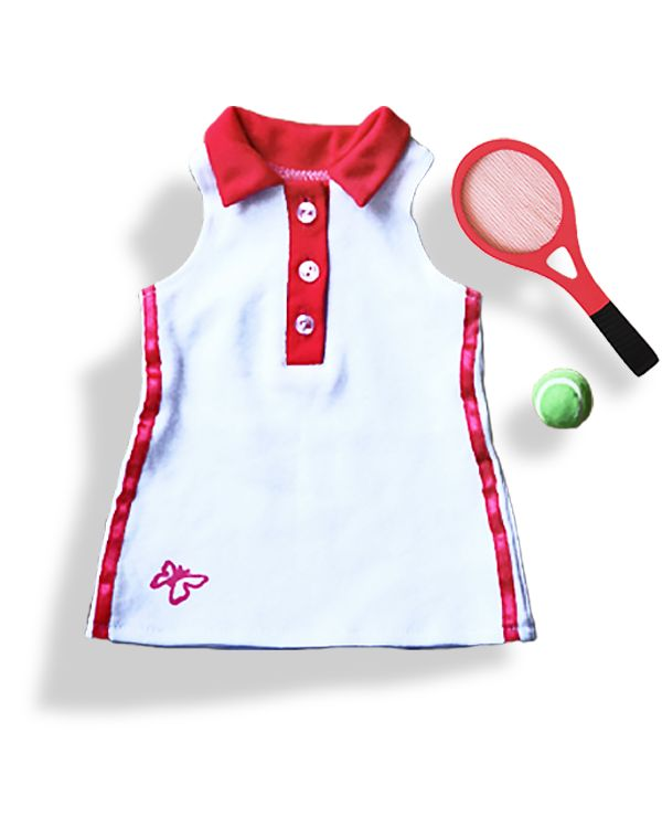 wegirls tennis set complete with tennis racket and ball at www.mydollboutique.co.uk