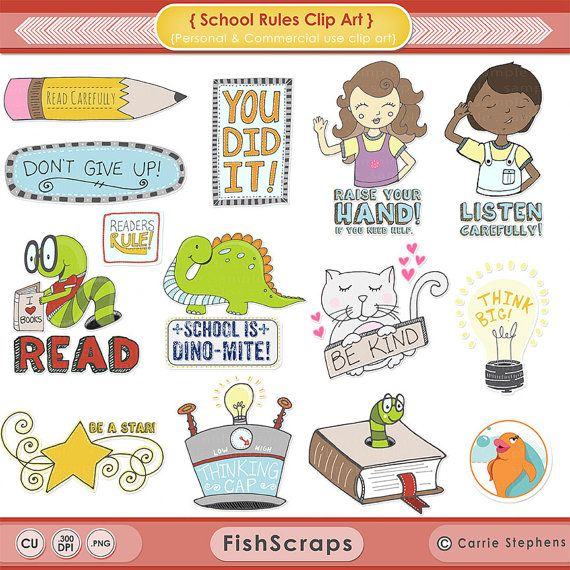 Back to School Rules Clip Art Pictures, Teacher ClipArt ...