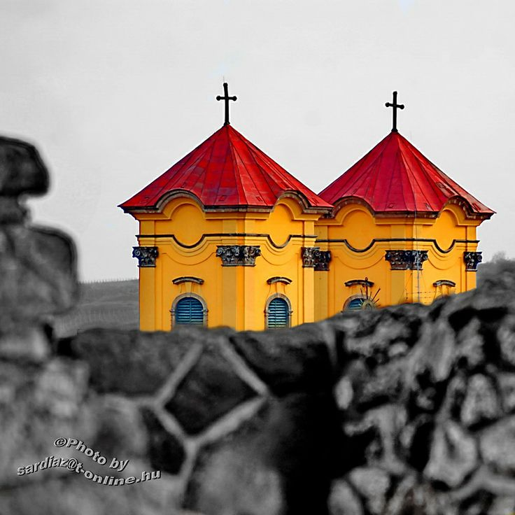 Twin Church towers - Eger