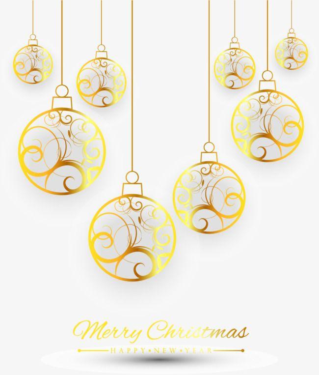 نمط الذهب الحلي Gold Pattern Ball Ornaments Gold