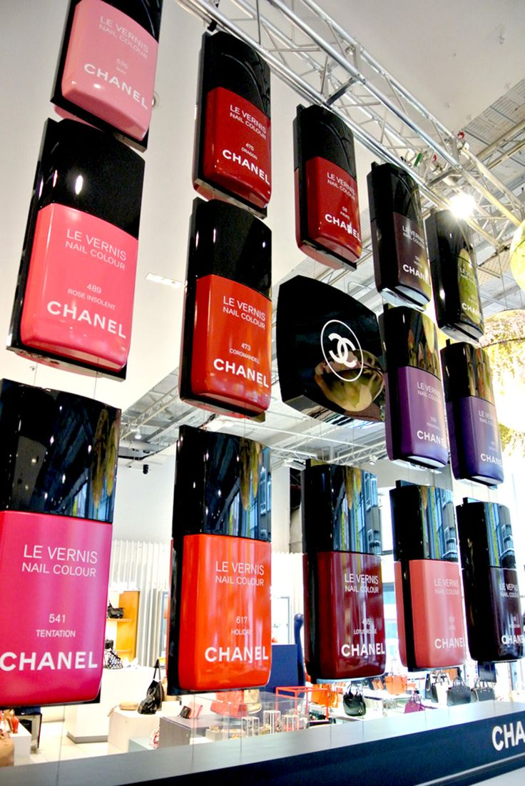 Chanel Nail Pop up - would love this as a feature wall art in my WIR