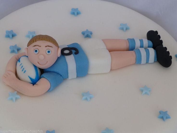fondant rugby player