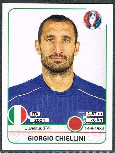 UEFA EURO 2016 Giorgio Chiellini  Italy - 499 #Panini #stickers #Italy…