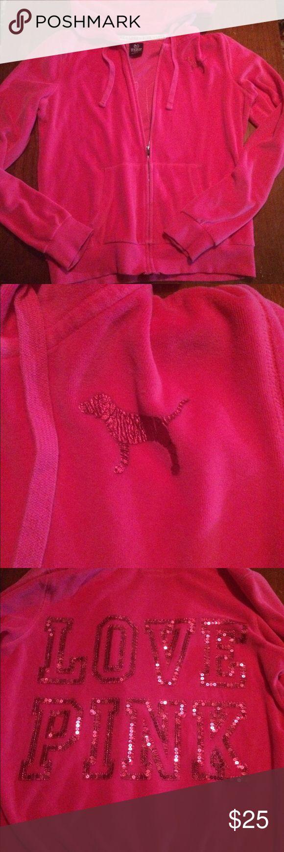 Victoria Secret Pink zip up hoodie ❤️ Victoria Secret Pink zip up hoodie ❤️ PINK Victoria's Secret Tops Sweatshirts & Hoodies
