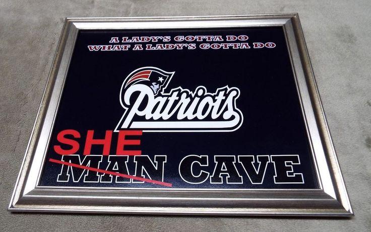 New England Patriots SHE MAN CAVE Framed 8x10 Photo #NewEnglandPatriots