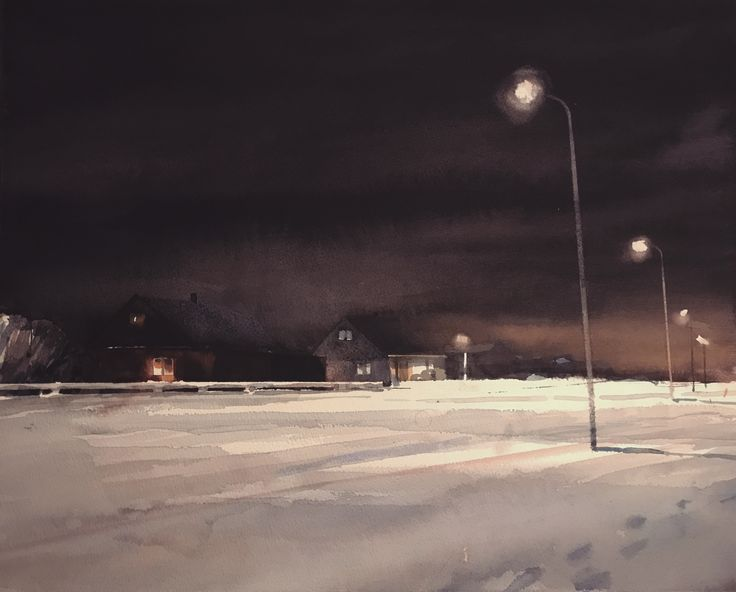 'February', watercolor by Magnus Petersson. #mood