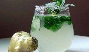 Bebida de jengibre, menta, limón y pepino para tener un vientre más plano que nunca