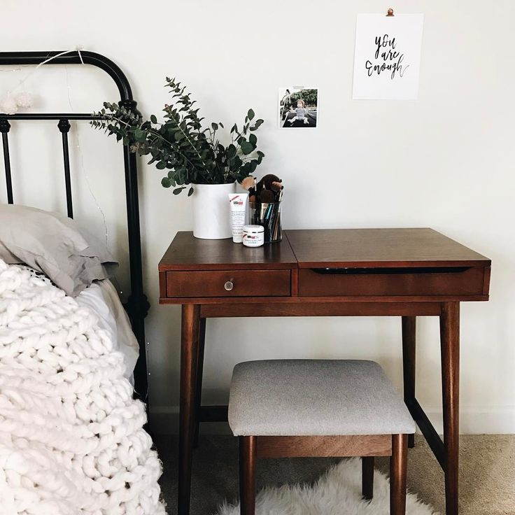 Love This Nightstand Desk And Small Seat