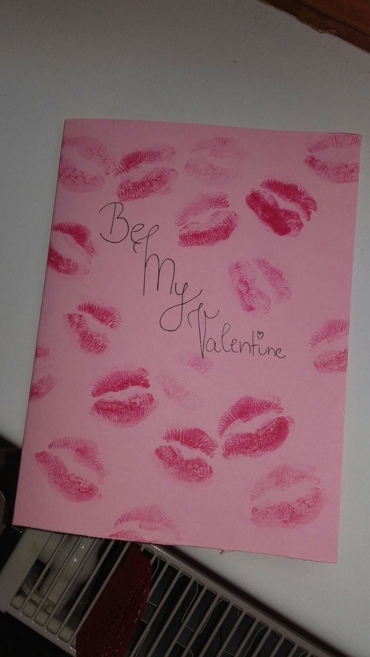Be my Valentine / for Valentine day diy / Love card / Present  #kiss #love #boyfriend