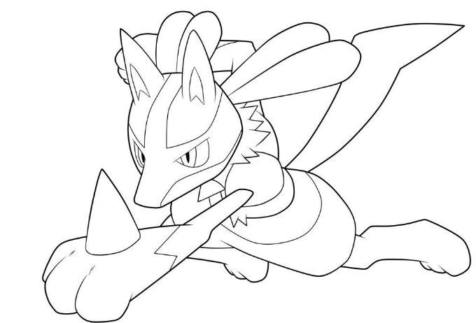 Lucario Coloring Page Coloring Pages Pokemon Coloring Pages Pokemon Coloring