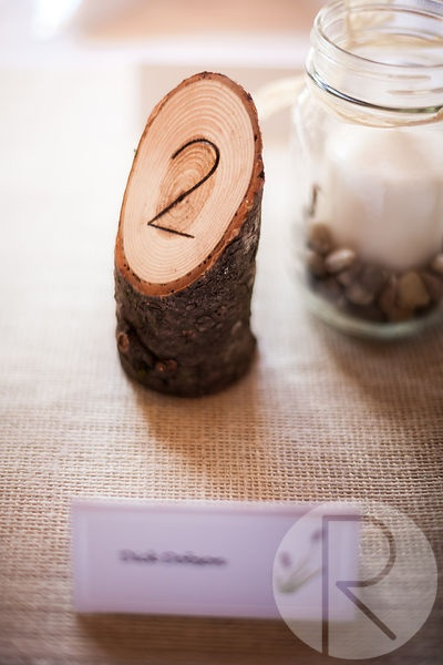 Loved these wooden table numbers #Wedding