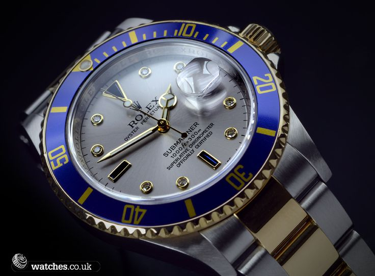 Stunning Dial! Rolex Submariner Date Diamond and Sapphire - 16613. We buy and sell Rolex Submariner watches. Contact Us - www.watches.co.uk