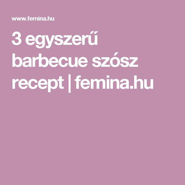 3 egyszerű barbecue szósz recept | femina.hu
