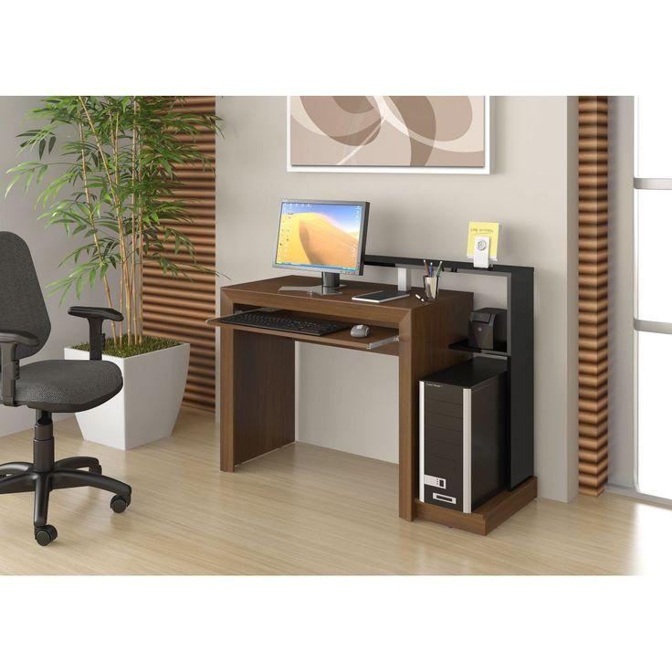 Mesa para computador Wengue/Preto DL-284 - Ditália