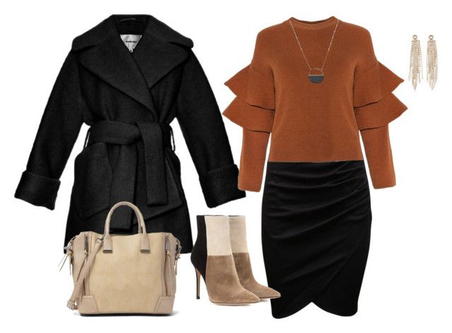 """""""Winter 7."""" by szunda on Polyvore featuring Carven, Gianvito Rossi, Steve Madden, Charlotte Russe, White House Black Market, women's clothing, women's fashion, women, female and woman"""