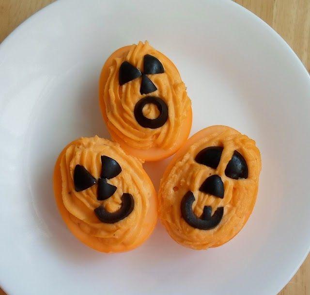 Happier Than A Pig In Mud: Halloween Deviled Eggs-4 ideas