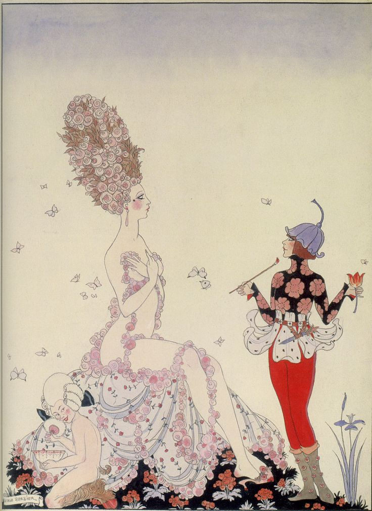 Art Deco Master illustrator George Barbier's fashion illustration