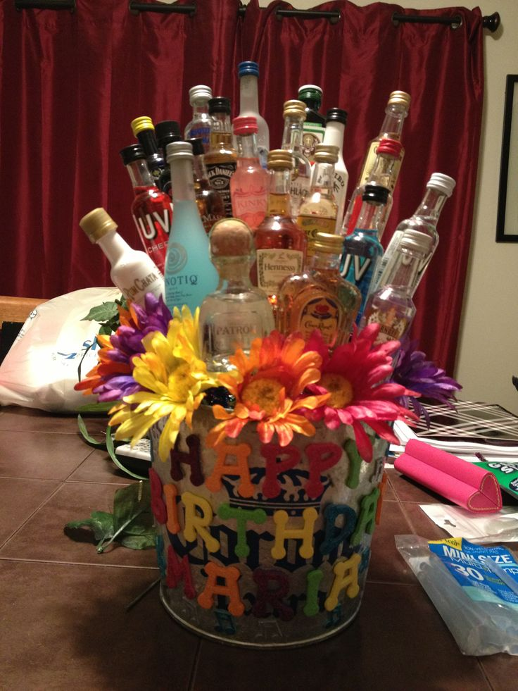 Marias 23rd Birthday Shot Gift Basket Shot Bottle Gift