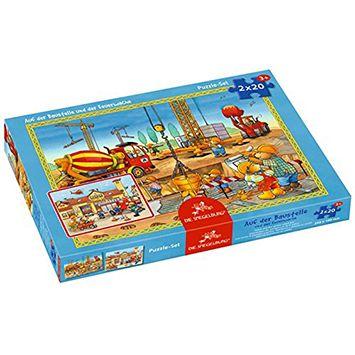 2 Παζλ Πυροσβεστική – Εργοτάξιο (20 τμχ) | Το Ξύλινο Αλογάκι - παιχνίδια για παιδιά