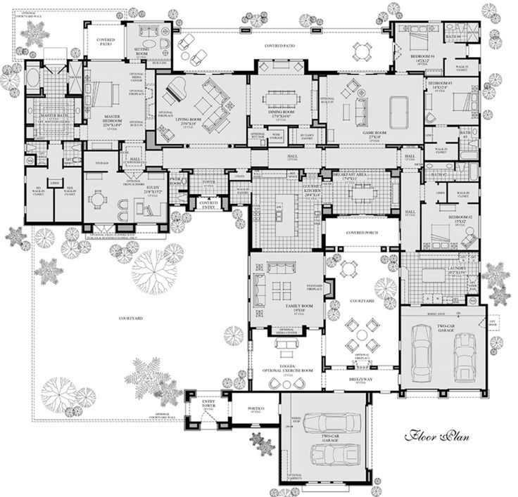 "Crazy floorplan...master ""zone""...great bathroom, etc. Every bedroom has it's own bathroom too..."