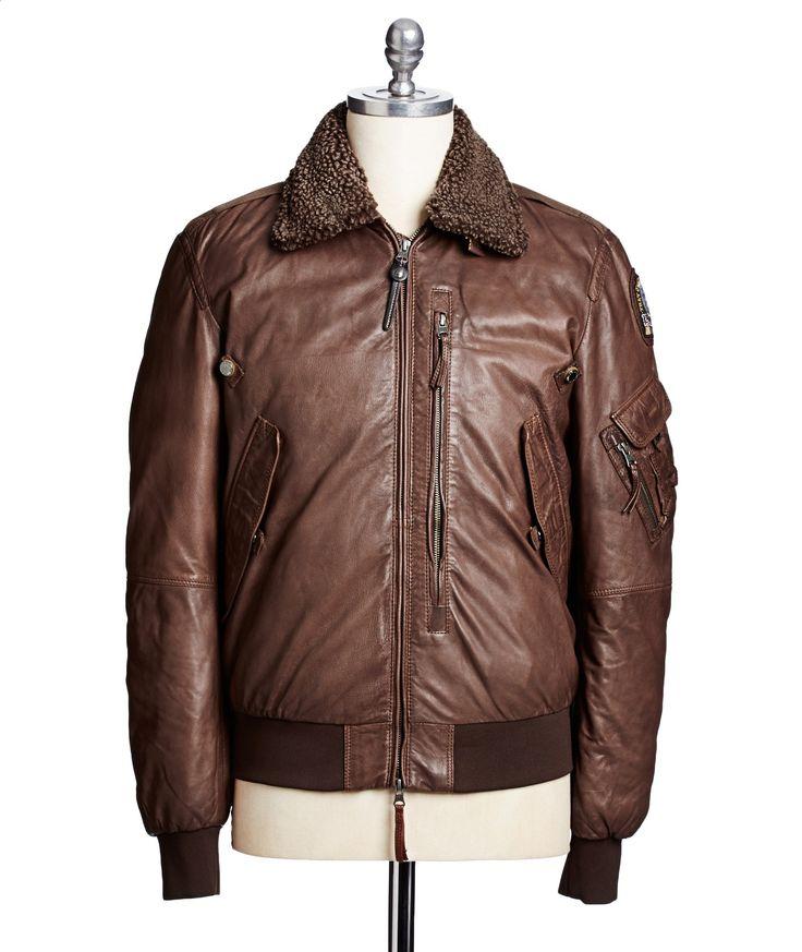 parajumpers josh leather jacket