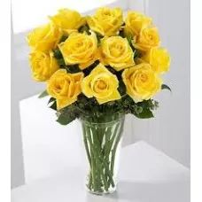 Yellow Roses Bouquet, Yellow Flowers Bunch